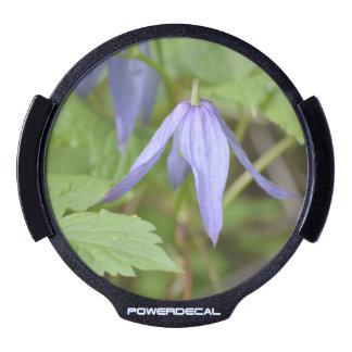 Purple Wildflower LED Car Window Decal