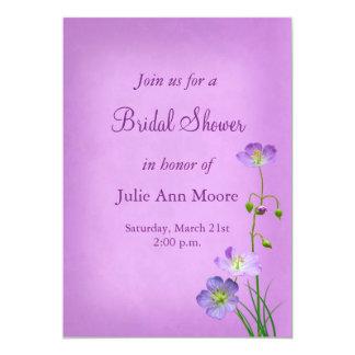 Purple Wildflower on Purple Bridal Shower Card