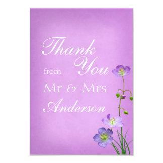 Purple Wildflower on Purple Thank You Card