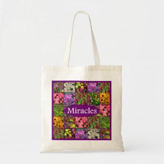 PURPLE WILDFLOWER PHOTO MIRACLES DESIGN TOTE BAG