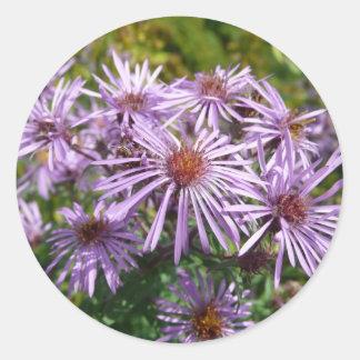 Purple Wildflower Classic Round Sticker