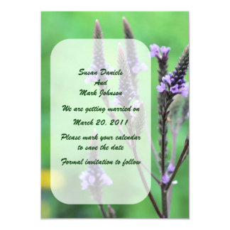 Purple Wildflower Wedding Save The Date Card