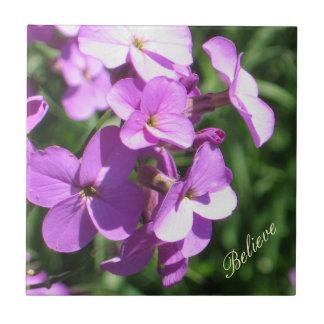 Purple Wildflowers-Believe Tile