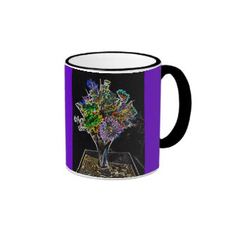 Purple Wildflowers Bouquet Mug