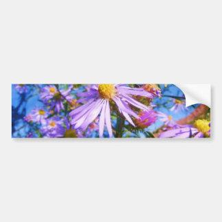 Purple Wildflowers Car Bumper Sticker