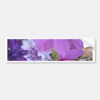 purple wildflowers bumper sticker