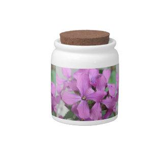 Purple Wildflowers Candy Jar