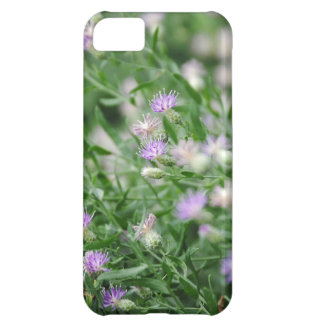 Purple Wildflowers Cover For iPhone 5C