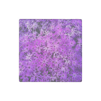 Purple Wildflowers For Hope Stone Magnet