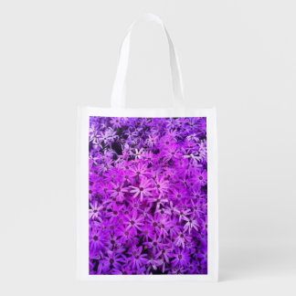 Purple Wildflowers for Hope Grocery Bag