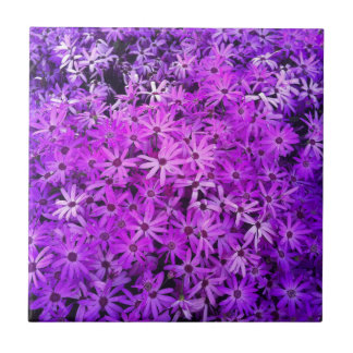 Purple Wildflowers For Hope Small Square Tile