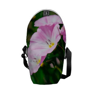 Purple Wildflowers In A Summer Sun Photograph Messenger Bag