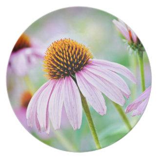 Purple Wildflowers Melamine Plate