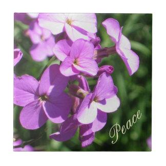 Purple Wildflowers-Peace Ceramic Tiles