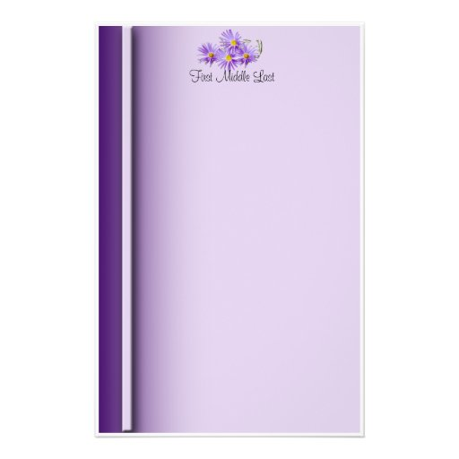 Purple Wildflowers Stationery