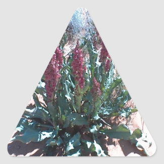 Purple Wildflowers Triangle Sticker