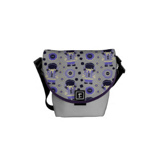 Purple Winter Girl Pattern Courier Bag