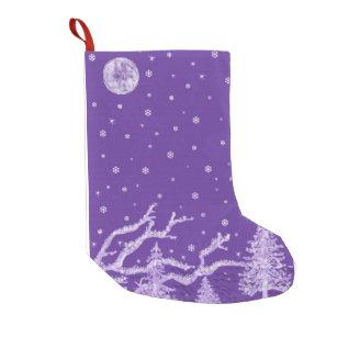 purple winter small christmas stocking - Purple Christmas Stocking