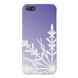 Purple Winter Snowflake Cover For iPhone SE/5/5s