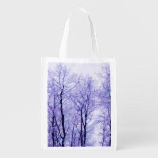 Purple Winter Trees