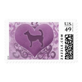 Purple Wire Portuguese Podengo Valentine Postage