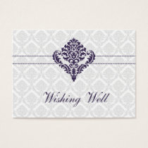 purple wishing well cards
