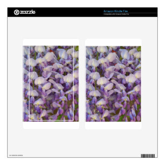 Purple Wisteria Decal For Kindle Fire