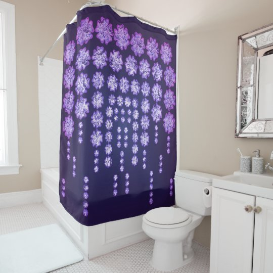 Purple Wisteria Flower Garden Japanese Tree Bold Shower Curtain ...