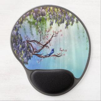 Purple Wisteria Springtime Gel Mouse Pad