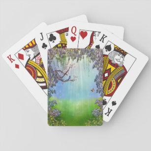 Purple Wisteria Springtime Playing Cards