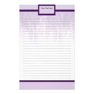 Purple Wisteria Stationery