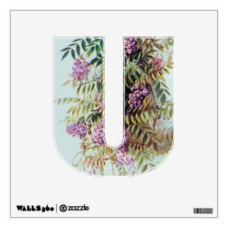 Purple Wisteria Wall Letter Poster Art Decal Room Stickers