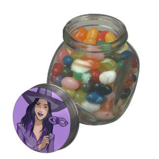 Purple Witch Glass Jar