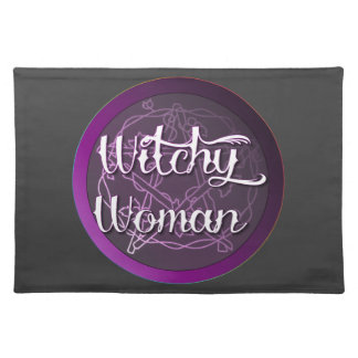 Purple Witchy Woman Cloth Placemat