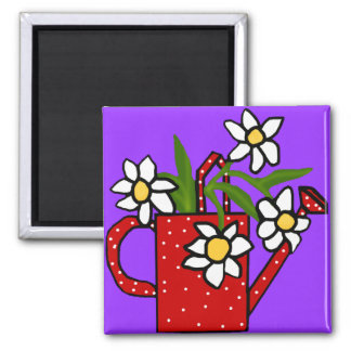 Purple with daisies magnet