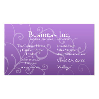 Purple with Decorative Swirl Business Card