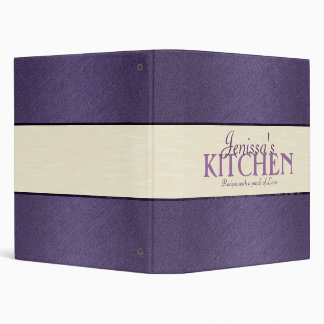 Purple with Ivory Ribbon Recipe Binder