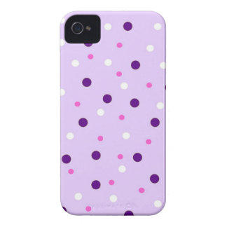 Purple with Pink Polka Dots iPhone 4 Case-Mate Case