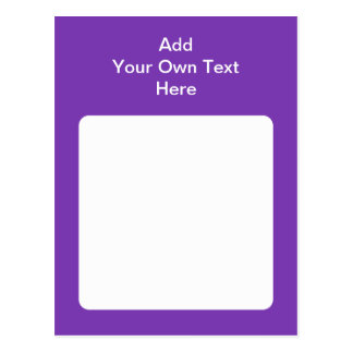 Purple with white area and text postcards