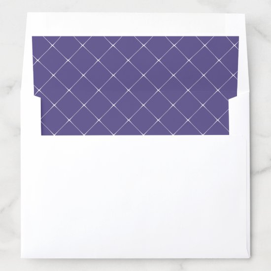 Purple with White Lattice Work Overlay Envelope Liner