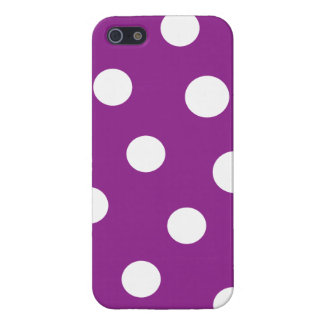 Purple with White Polka Dots iPhone 5/5S Case