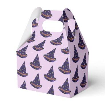 Halloween Themed Purple Wizard Hats Halloween Treat Boxes
