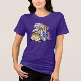 Purple Women's Plus Size Halloween Shirts - Witch