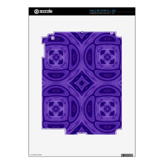 Purple wood abstract pattern iPad 2 decals