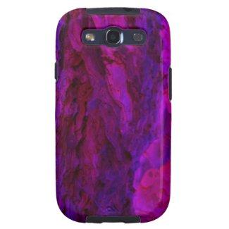 Purple Wood Bark Textures Galaxy SIII Case