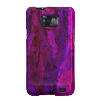 Purple Wood Bark Textures Samsung Galaxy S2 Cover