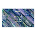 Purple Wooden Gate Business Card Template