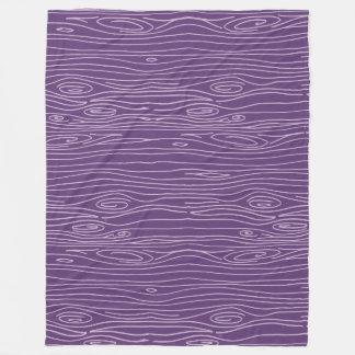 Purple Woodgrain Fleece Blanket