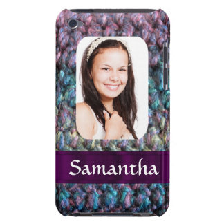 Purple wool photo template iPod touch case