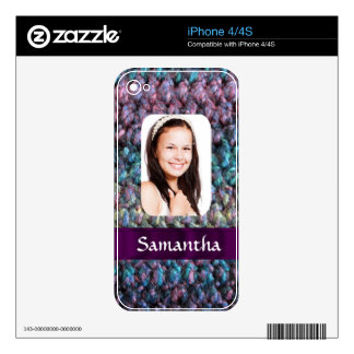 Purple wool photo template iPhone 4 skins